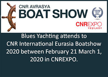 Blues Yachting at the 2020 Eurasia Boat Show